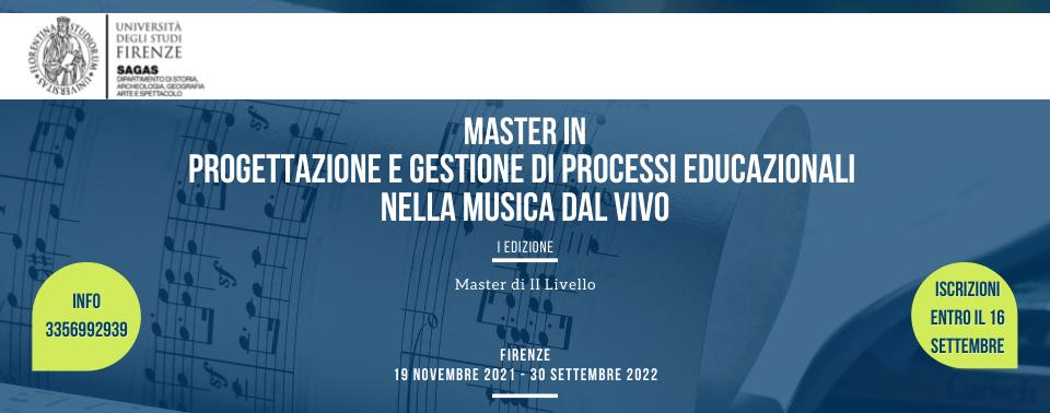 MASTER IN PROGETTAZIONE e GESTIONE di PROCESSI EDUCAZIONALI nella MUSICA DAL VIVO box